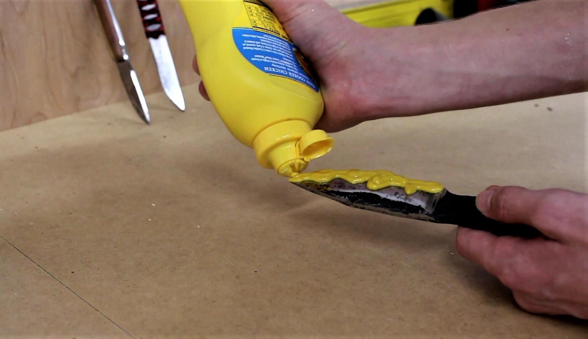 Picture of Fake Hamon Line- Apply Mustard