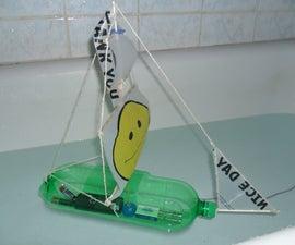 bottle sailboat