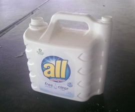 Turning detergent jug into tote