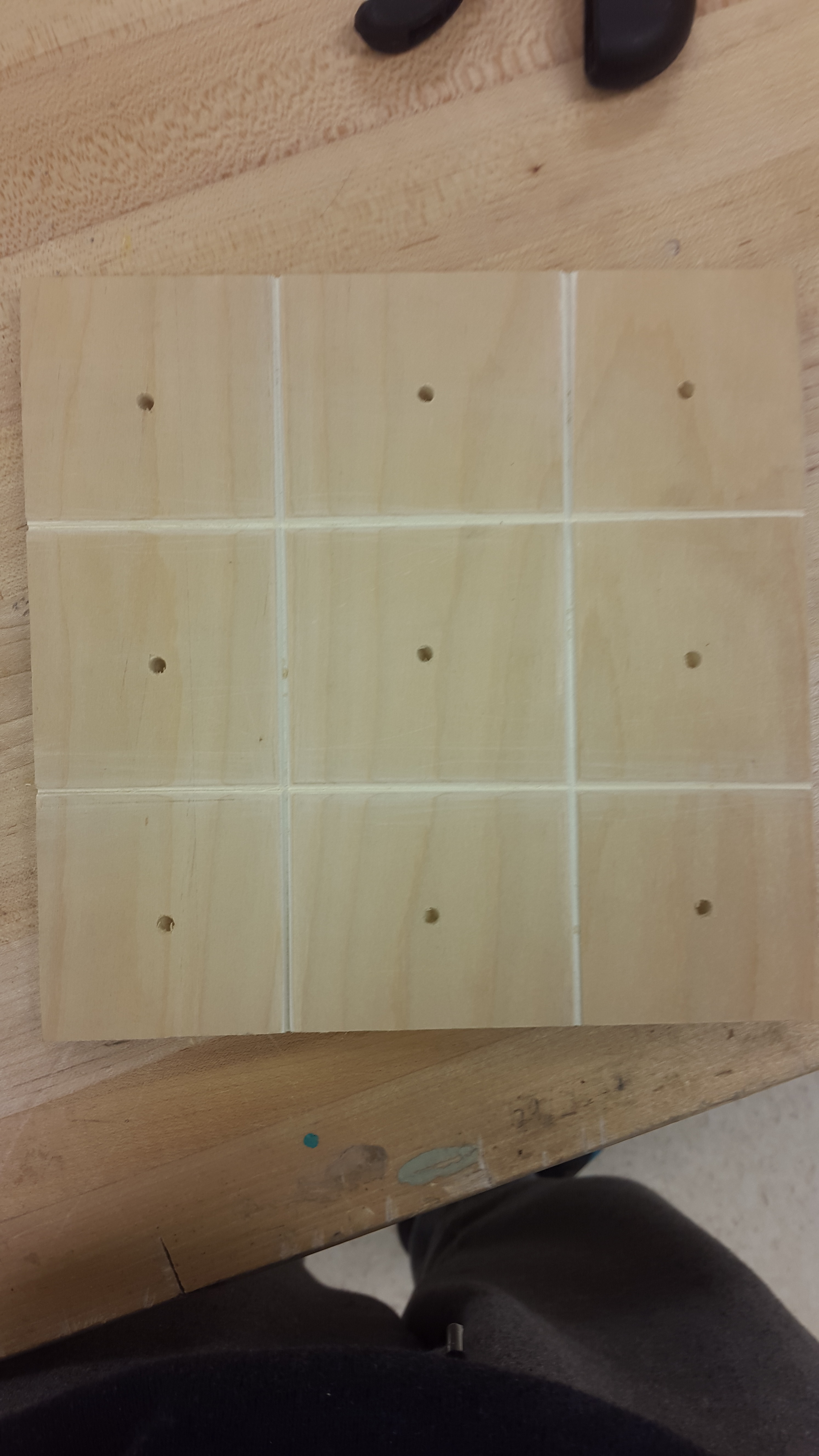Picture of Homemade Tic-tac-toe Board