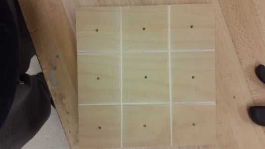 Homemade Tic-tac-toe Board