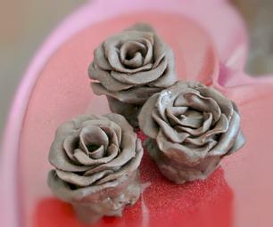 Rose-Shaped Cheesecake Brownie Truffles
