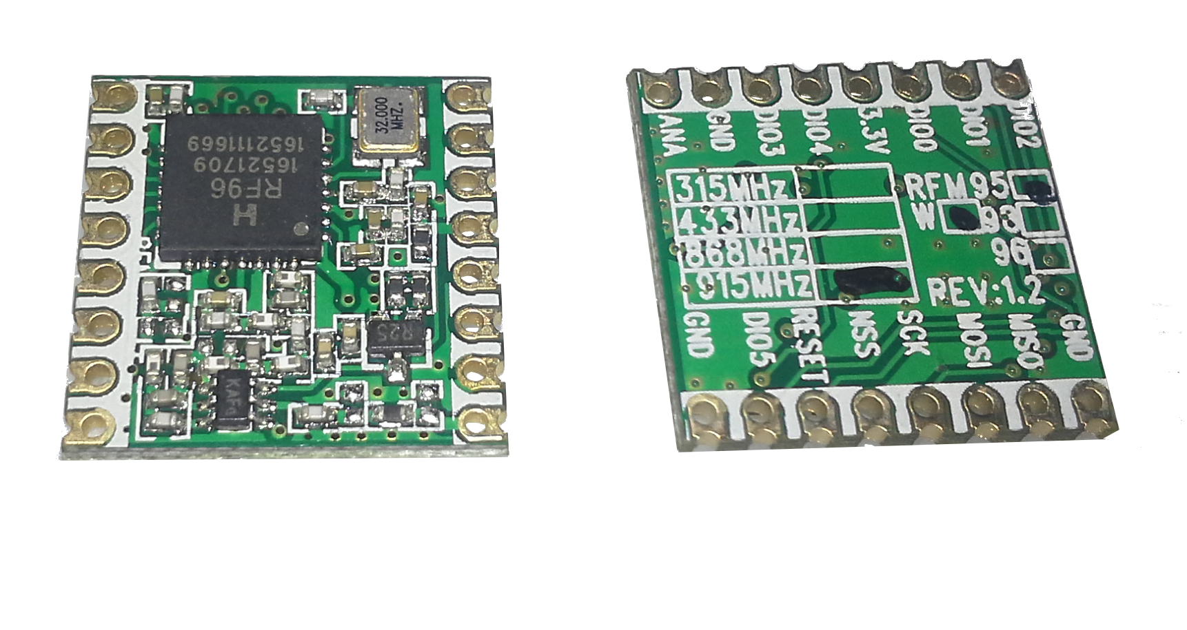 Picture of Module RFM95 of Hoperf Electronics