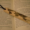 Wooden Bookmark of Map and Quote