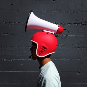 Make a Megahelmet (a Helmet With a Megaphone)