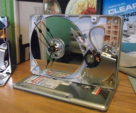 Recycled Hard Drive Desk Clock