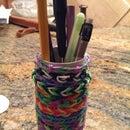 rainbow loom pencil holder