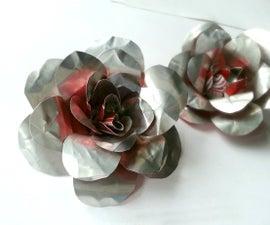 DIY Recycled Metal Rose