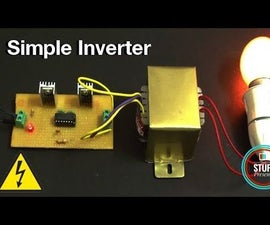 IC Based Simple 12V to 240V Inverter Using MOSFET & IC 4047
