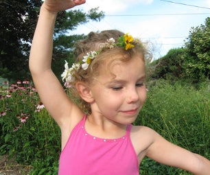 Braided Princess Crown or Necklace From Flowers.