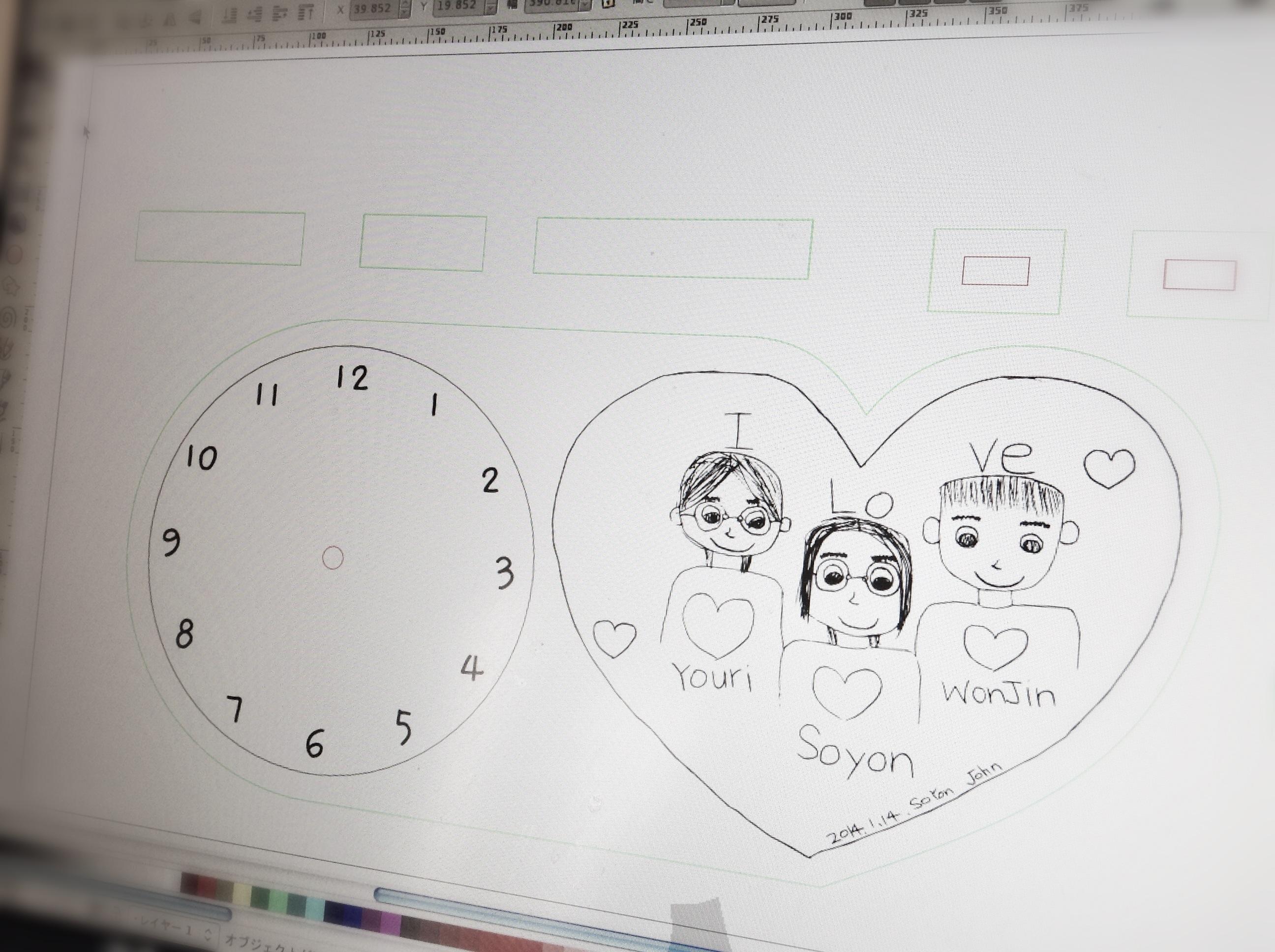 Picture of 時計の形状と小部品のデザイン
