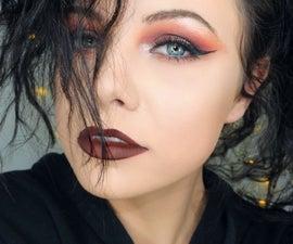 Dark Warm Brown Smokey Makeup Look