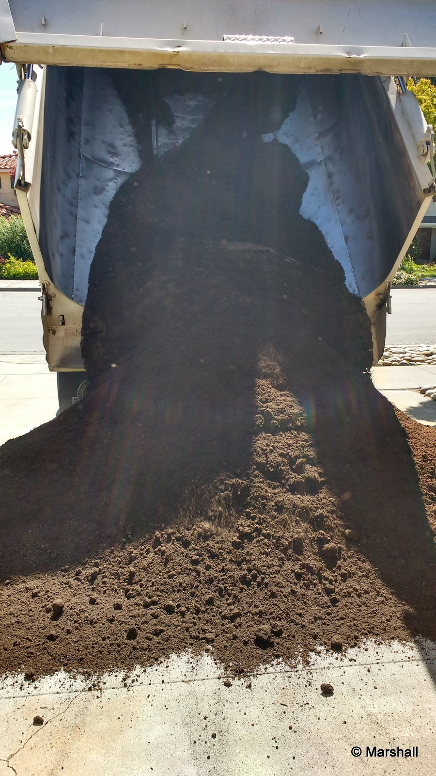 Picture of A Big Truck Delivered Our Vegetable Garden Soil