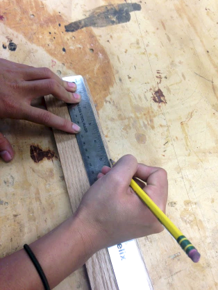 Picture of Measuring and Cutting the SIDE Wood Pieces