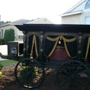Antique Horse Drawn Hearse - Halloween Prop Replica