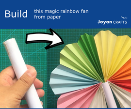 Magic Rainbow Paper Fan