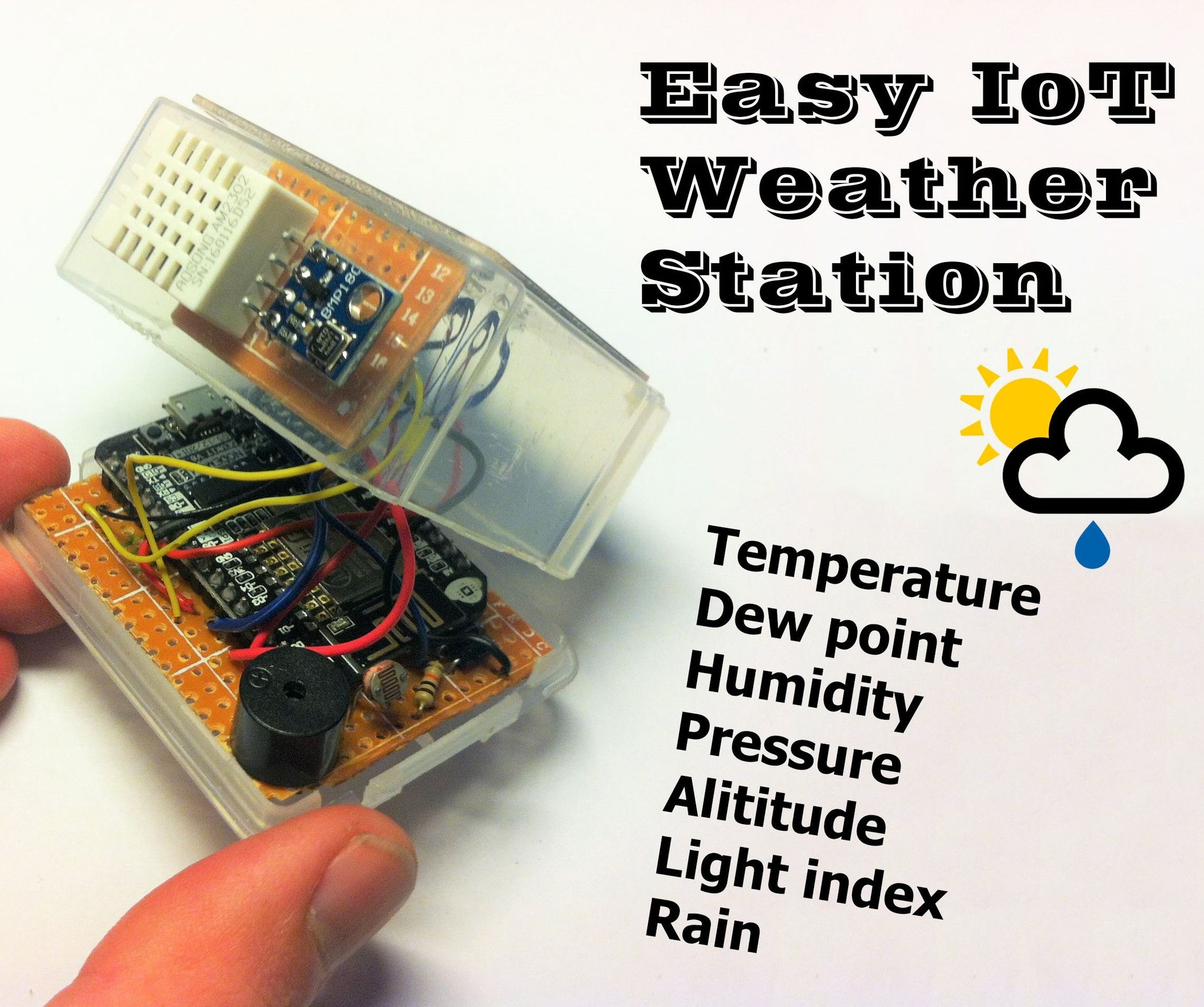 Easy Iot Weather Station With Multiple Sensors 8 Steps Pictures Sound Sensor Electronic Brick Digital Output