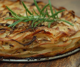 potato, rosemary and onion layer bake