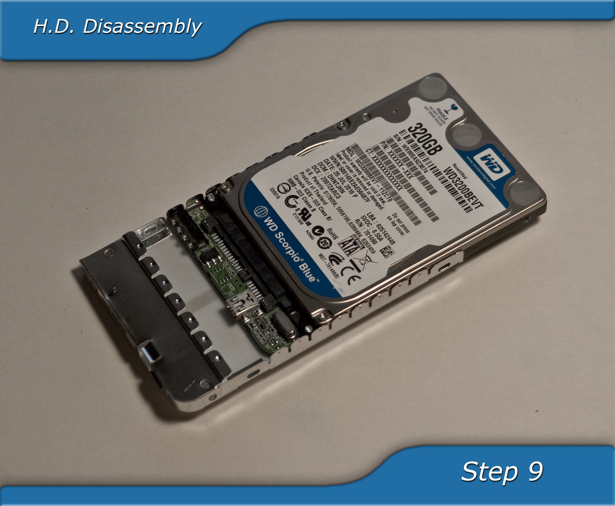 Picture of Hard Drive Disassembly