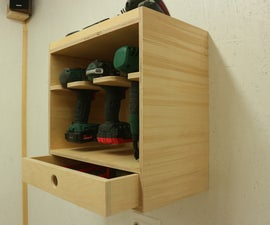 Making a Cordless Tool Storage / Charging Station