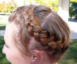 How to Tie a French Braid Crown