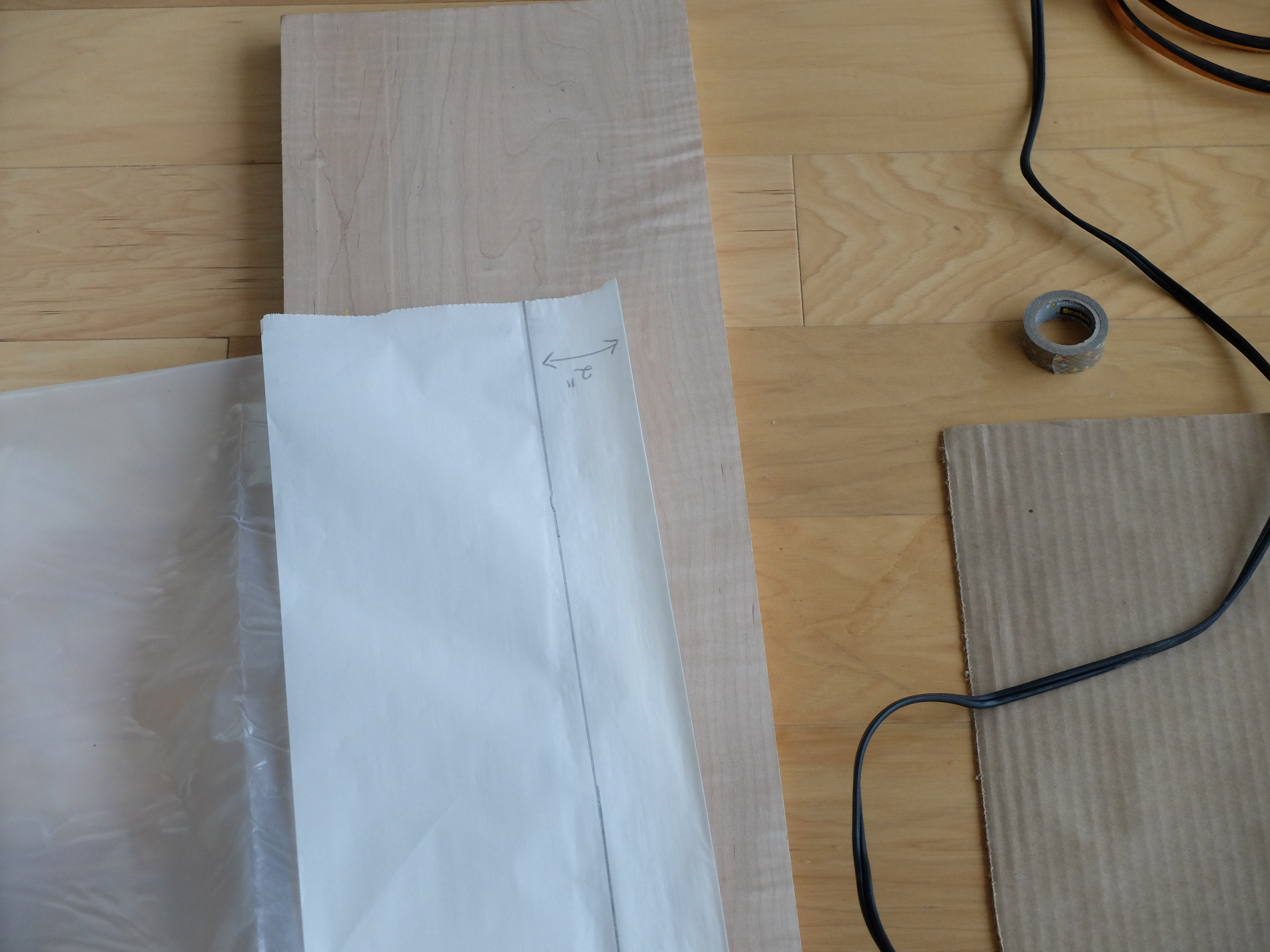 Picture of Parchment Paper Protection, & Sealing the Perimeter and Rainbow Sections With a HOT Iron