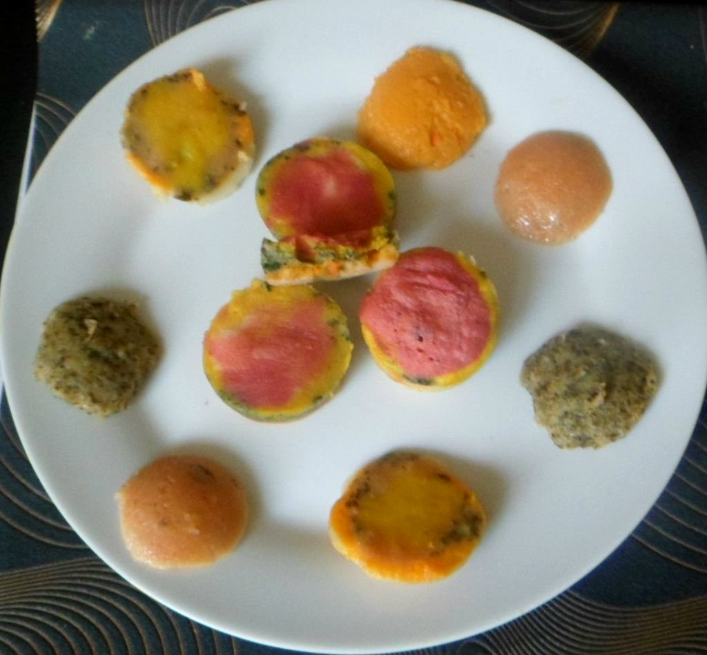Picture of Steamed Rainbow Semolina Bites