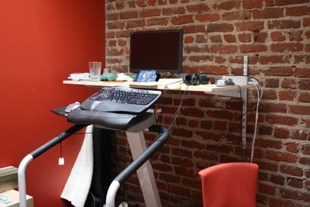 Keyboard Tray and Shelf Attached to Wall