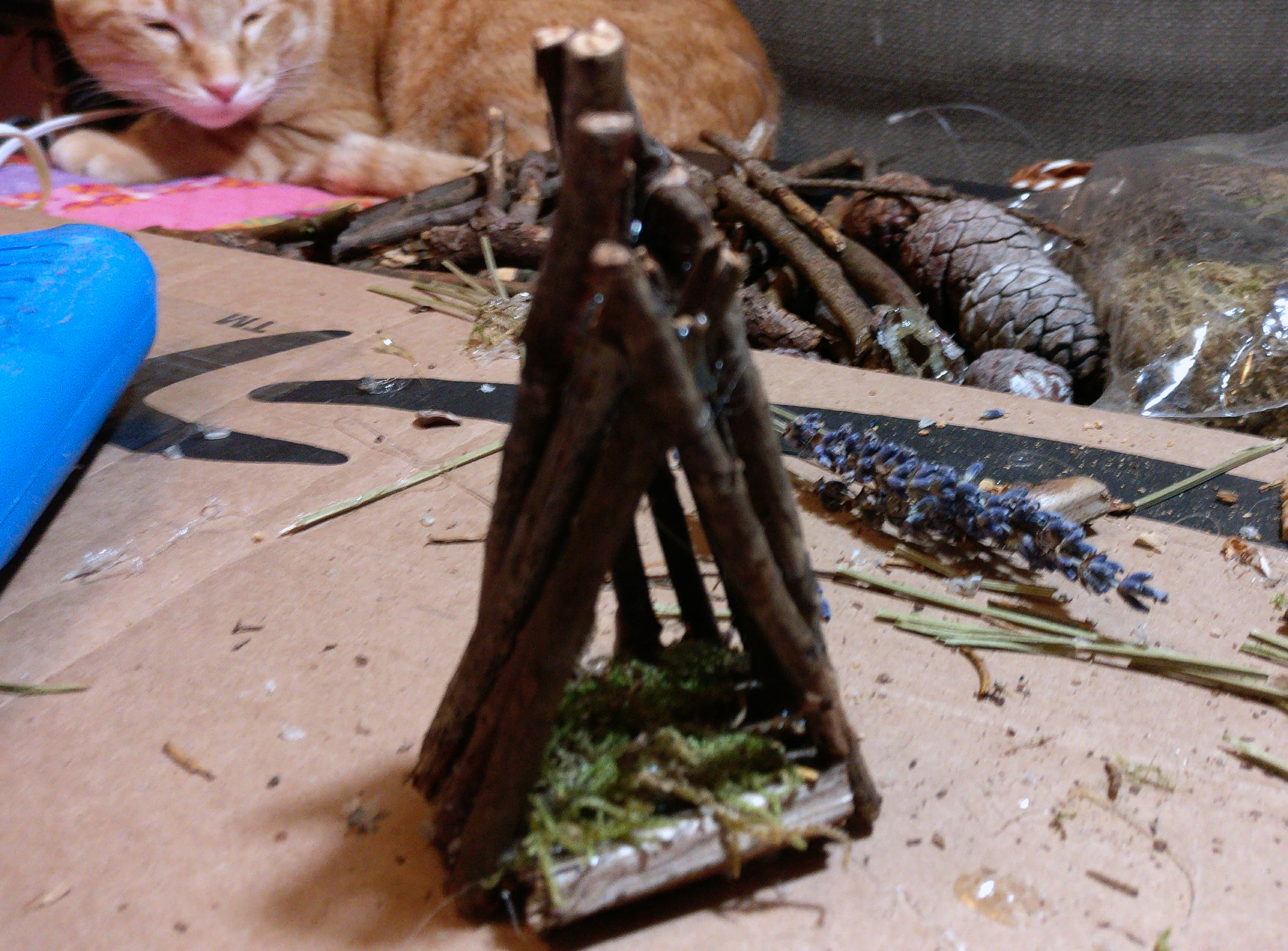 Picture of Making the Fairies Hut