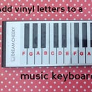 Labelling A Music Keyboard With A Silhouette Vinyl Cutter