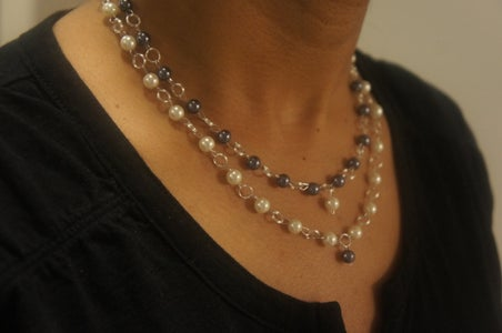Basic Two Strand Bead Necklace