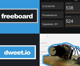NodeMCU, Dweet.io & Freeboard.io