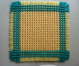 How to Weave a Criss-Cross Table Mat With Home-made Loom