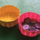 Round Cardstock Basket using Silhouette