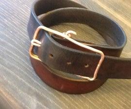 Copper wire belt buckle