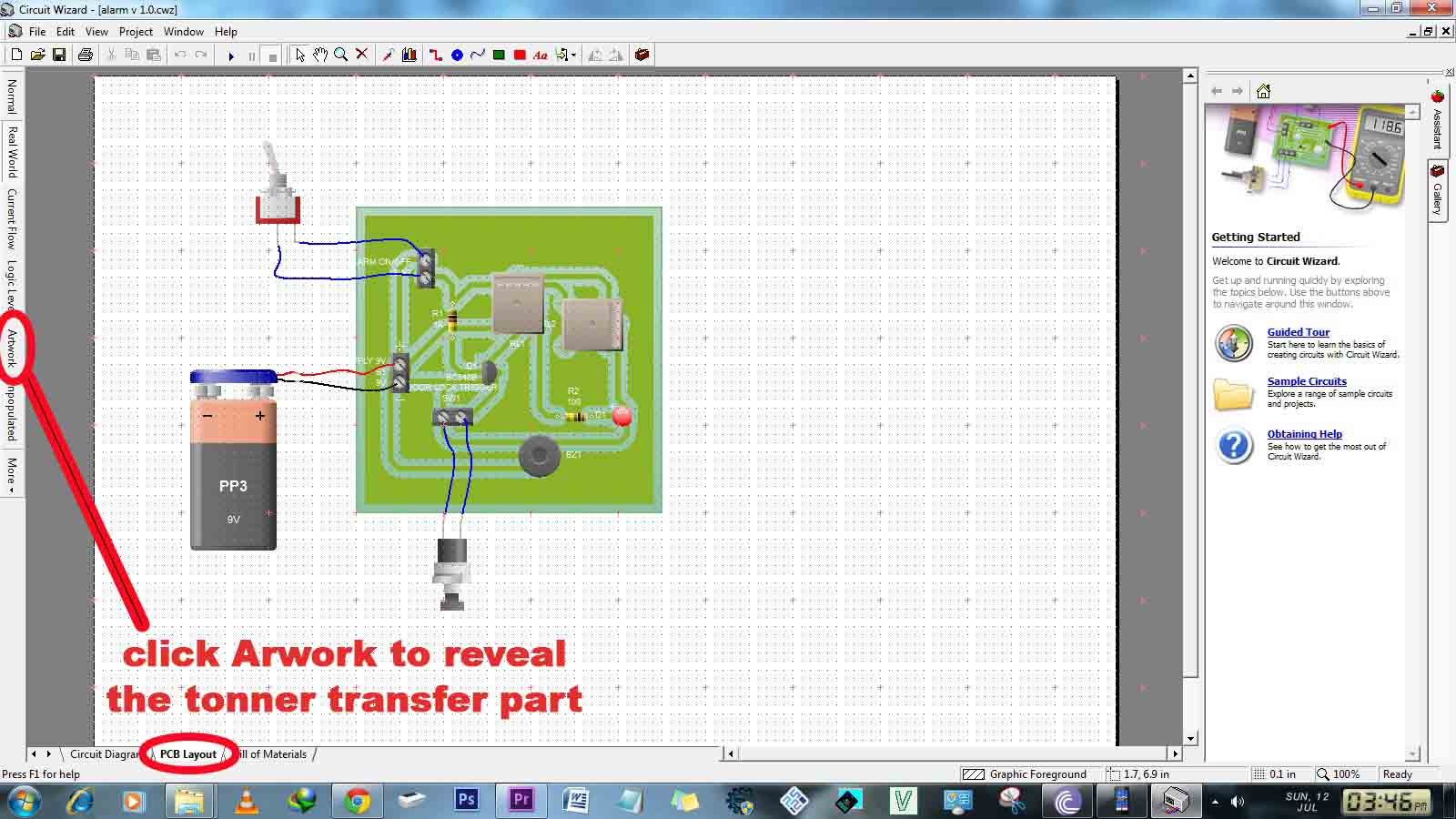 Picture of Use Circuit Wizard to Make Pcb (optional)
