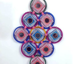 How to Make Wall Hanging Craft From Bangles and Matchboxes?