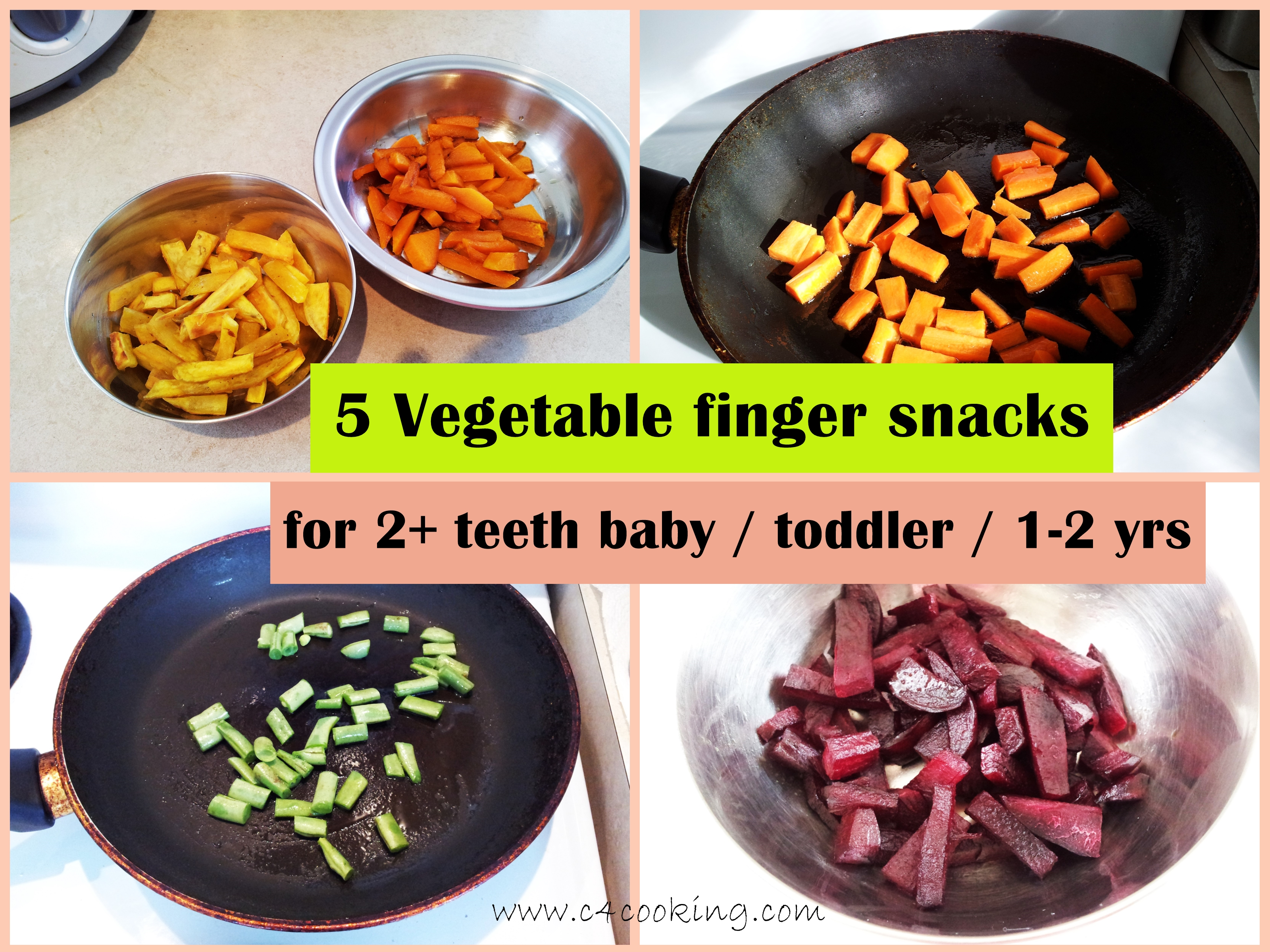 Picture of 5 Vegetable Finger Snacks - (for 2+ Teeth Baby / Toddler / 1-2 Yrs )