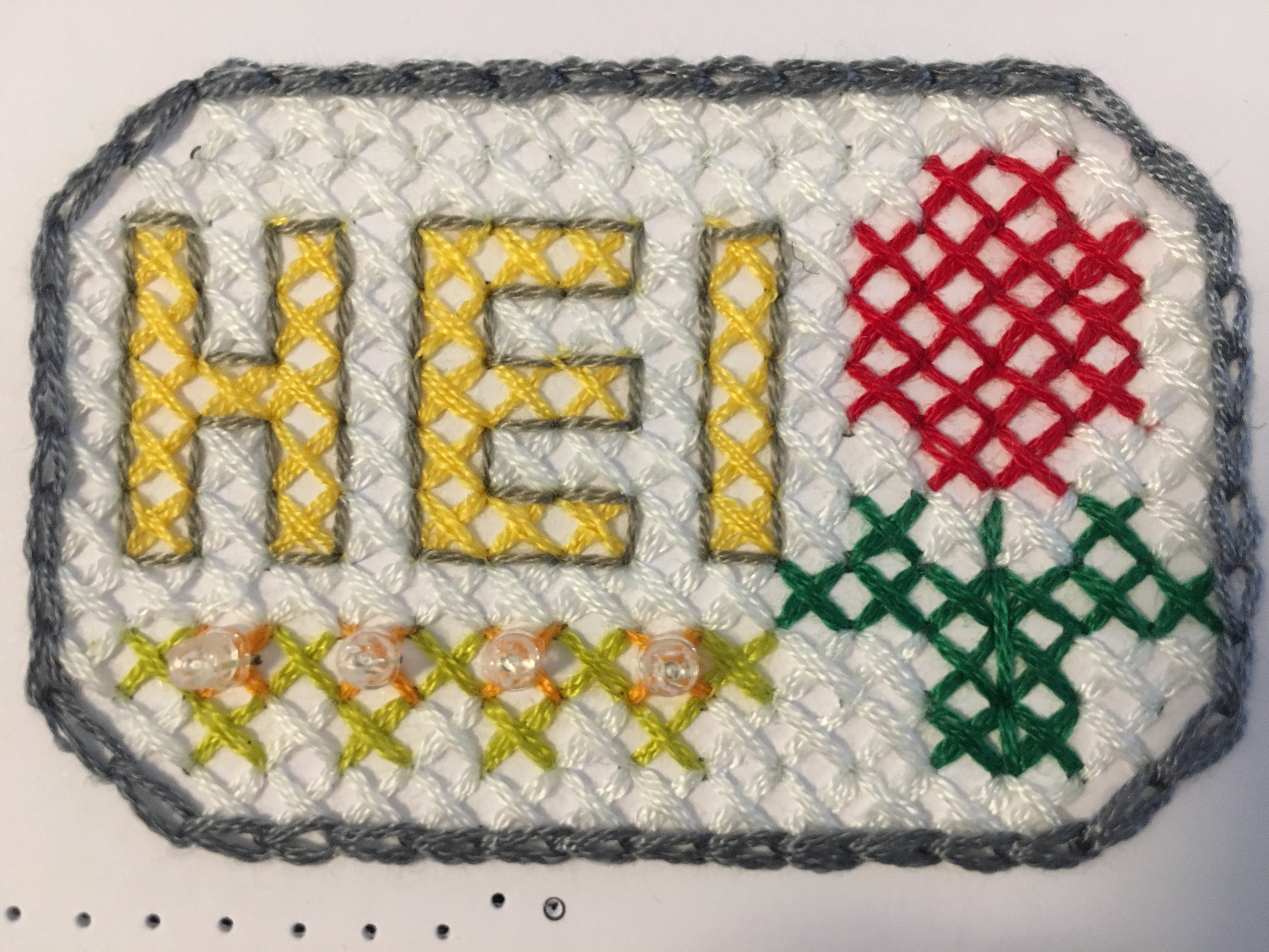 Picture of Put LED on Your Cross Stitch Work