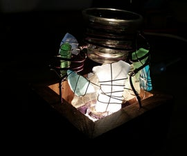 DIY Walnut Sea Glass Wax Cube Warmer