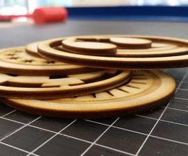 Star Wars Birch Coasters