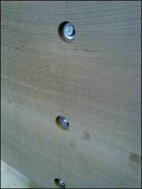 Picture of Joinery:  Hole Placement for Connectors & Lag Bolts