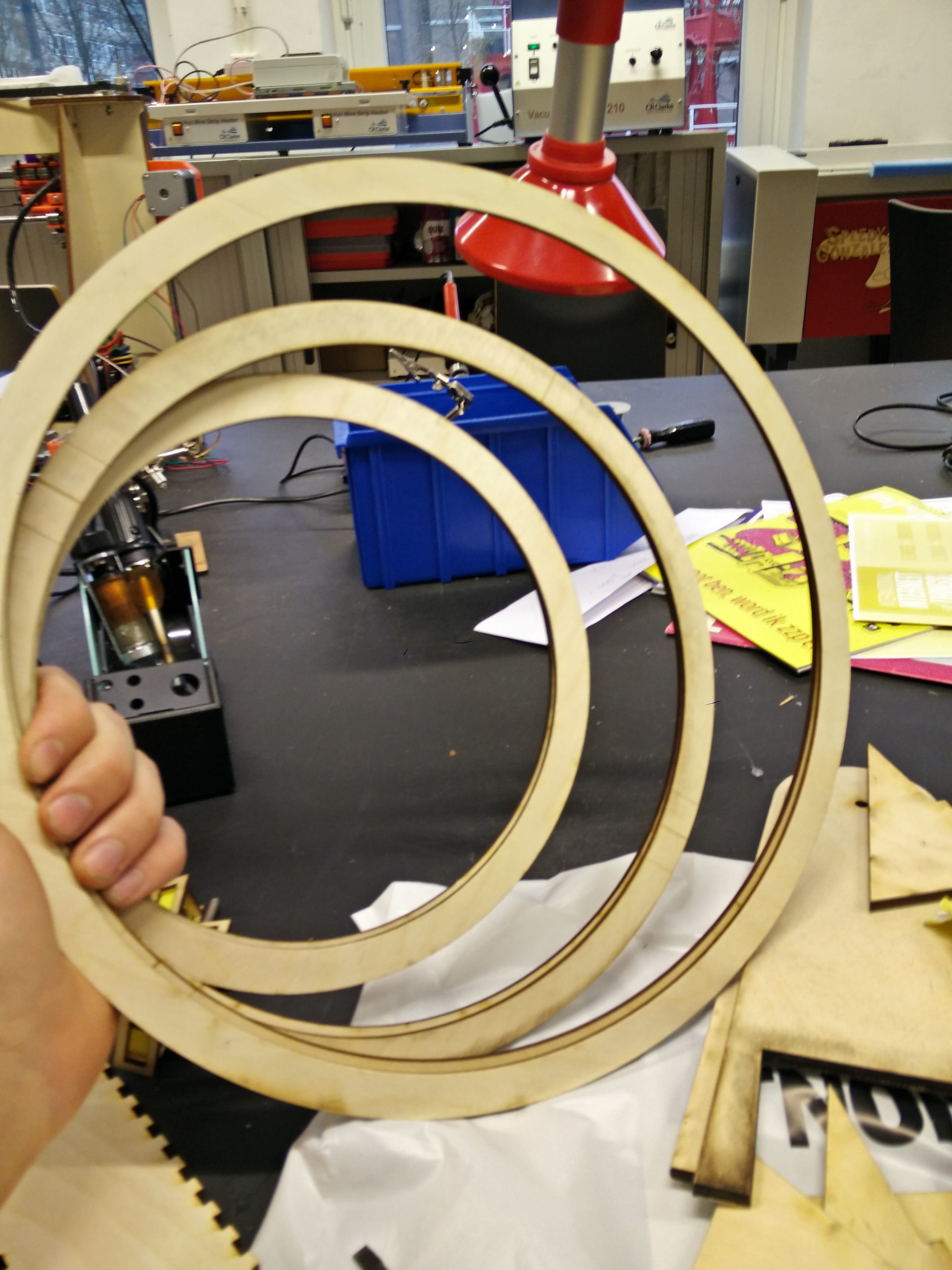 Picture of Lasercutting the Rings