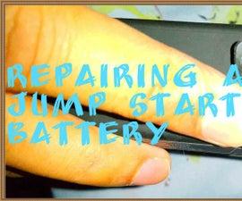 Repairing a Lithium Jump Starter Battery.