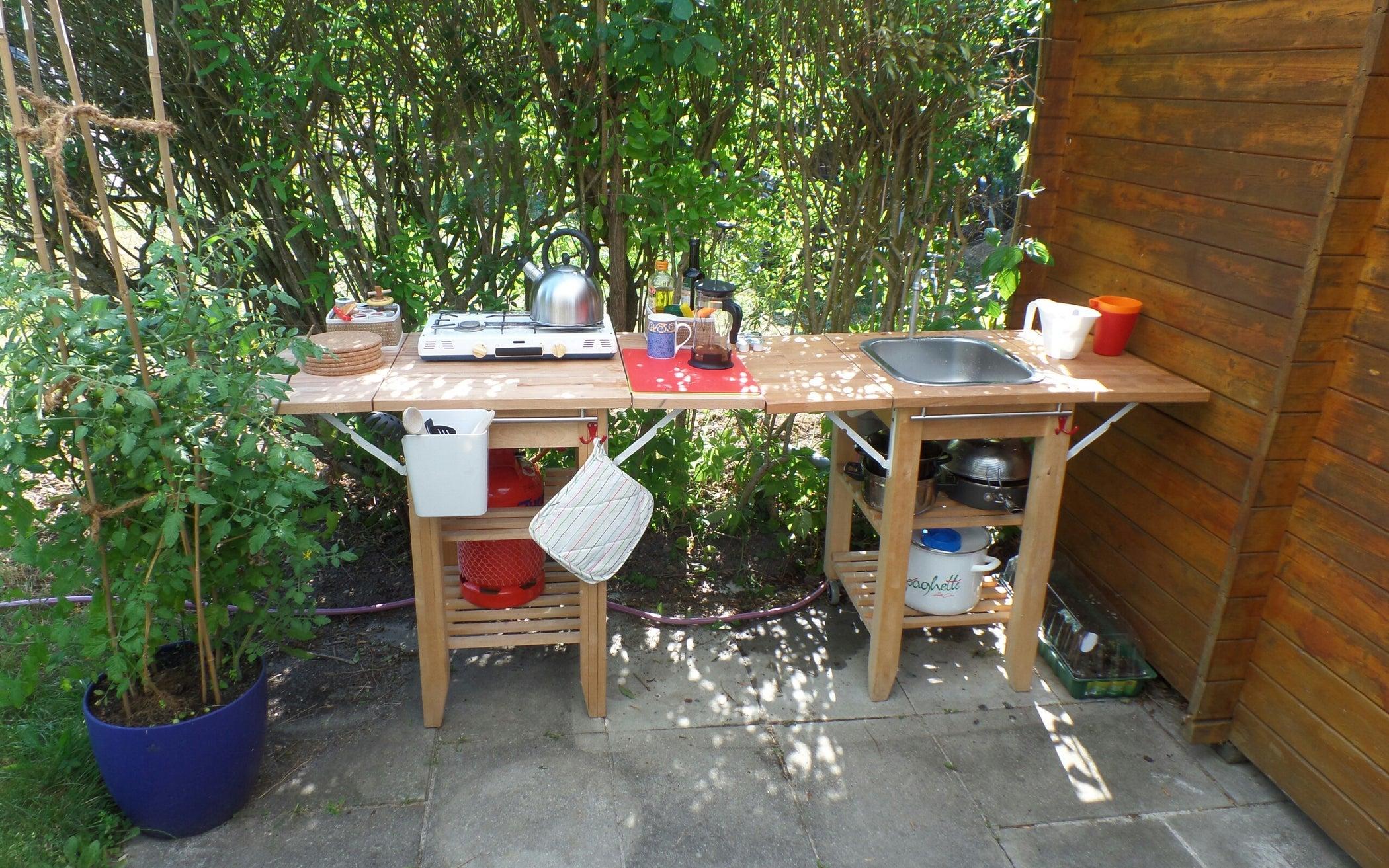 Outdoor/indoor Kitchen for Garden Shed