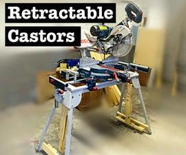 Retractable Castors for a Mitre Saw