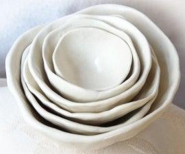 Porcelain Roses - Nested Bowls