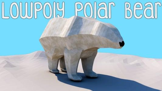 Low Poly Polar Bear - Cinema 4D