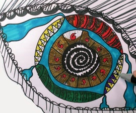 How to Draw: Zentangle Eye (Doodles) - DrawCartoonsEasy [HD]