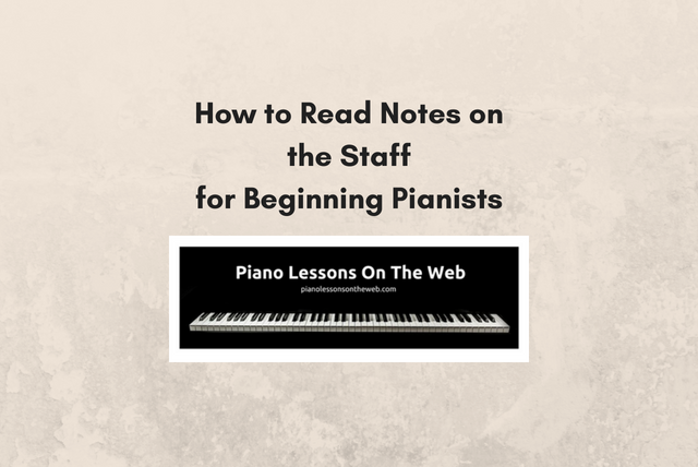 Picture of How to Read Notes on the Staff for Beginning Pianists